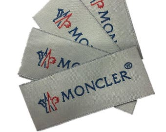 Moncler woven labels,Moncler etickets,labels for clothing,sew on woven patches,sew on labels,Moncler patches