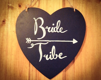 Bride Tribe Chalkboard Wedding Sign | Wedding Signs | Hen Do | Hen Party | Wedding Signs | Rustic wedding | Bachelorette Party | Bride Tribe