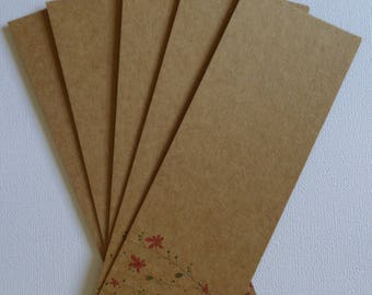 Set of 5 large tags to customize 2