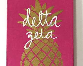 CUSTOM Delta Zeta/Sorority Decor