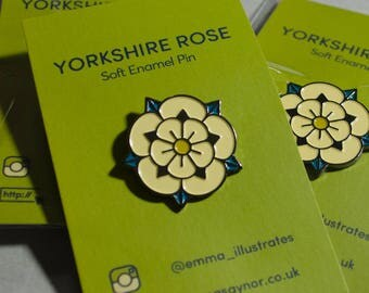 Yorkshire Rose 25mm Enamel Pin