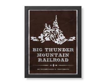 Disneyland Big Thunder Mountain Poster