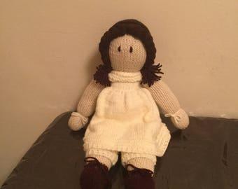 Handmade knitted doll