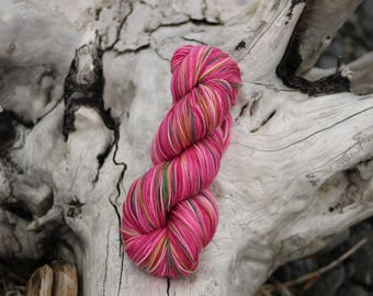 Fireweed - Part of the Alaskan Color way, hand painted yarns inspired by the magic of Alaska