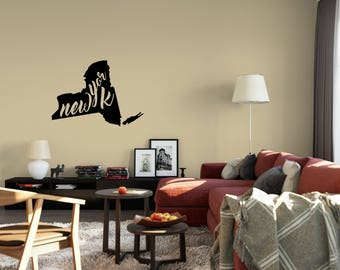 New York Wall Decal - Small & Large Removable Vinyl Wall Decals of New York State