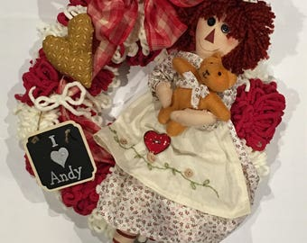 Raggedy Ann wreath