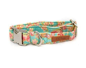 Ted Barker Floral Dog Collar, Bowtie & Lead