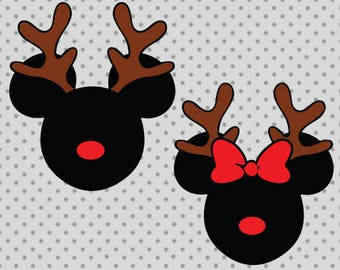 Disney christmas svg, Deer mickey svg, Mickey svg, Deer minnie svg, Minnie svg, Christmas svg, Christmas cricut, Disney cricut, Deer svg