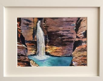 Karijini National Park, Western Australia, Framed Original Watercolour Painting