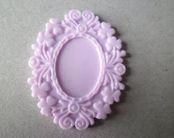 x 1 holder 5 x 4 cm purple lacquered resin cameo