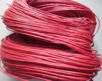 5 Metters red waxed cord 1 mm wire