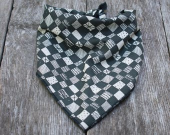 Abstract Checker Dog Bandana