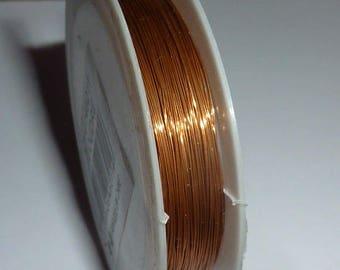 Reel of 0.3 mm copper colored copper wire 20 m