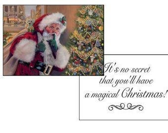 Santa Christmas Greeting Cards, Christmas Cards, Holiday Cards