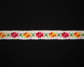 Multicolored thick cotton Ribbon trim