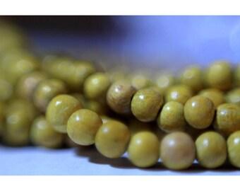 Strand beads 40 cm round 5/6 mm jackfruit wood