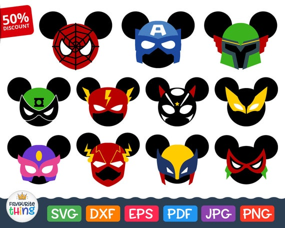 Mickey Super Hero Svg Mouse Head Svg Disney Superhero Svg