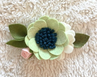 Pistachio Large Felt Floral Headband