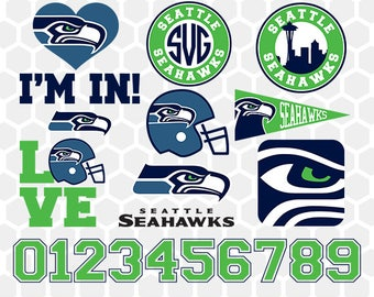 Seattle Seahawks SVG, Seattle Seahawks Files, Instant Download Football Files, Cricut, Cameo, Vinyl Machine, DXF EPS png jpg pdf - 015