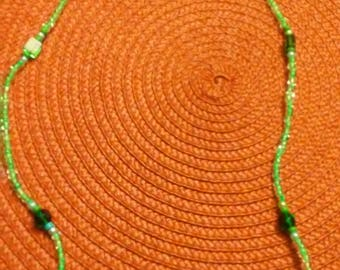 Green Crystal & Beads