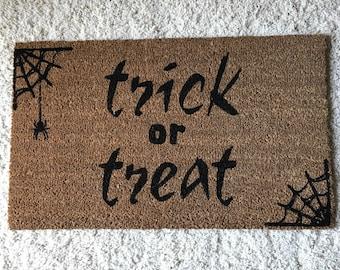 Trick or Treat Doormat
