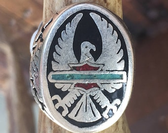 86 G&S Eagle Shield Stainless Steel Ring