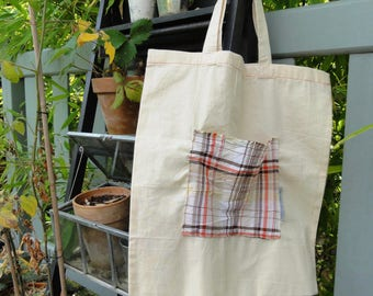 Fabric bag / Tote Bag campaign: Ecru/tiles