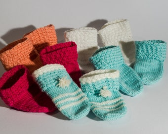 Hand Knitted Baby Socks, Knitted Wool Socks