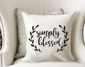 Simply Blessed Linen Pillow Case