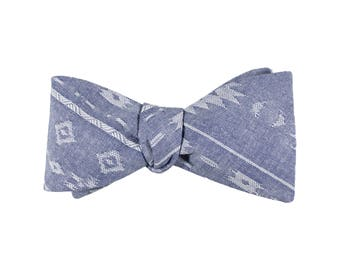 Western Chambray Bow Tie
