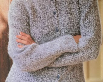 PDF Knit Side-Slit Cardigan (EASY)