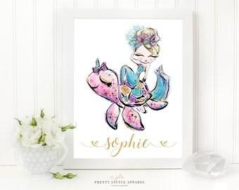 Mermaid Print, Mermaid Nursery, Mermaid Decor, Mermaid Wall Art, Mermaid, Nursery Print, Nursery Decor, Mermaid Nursery Art, Mermaid Art