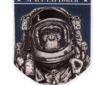 Space Exploration Chimp NASA Unknown Universe Crew Uniform Patch