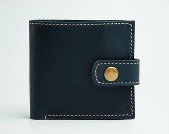 Mens leather wallet Bifold wallet Boyfriend gift Handmade wallet Leather wallet Card holder Husband Gift Distressed Wallet Groomsman Gift