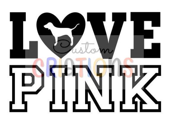 love pink vs victoria secret logo dog svg cricut