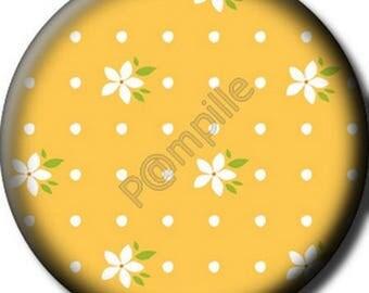 Cabochon resin 25 mm - orange blossoms (613) stick