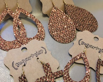 Bronze and Gold Glitter Earrings - Pick Your Style!
