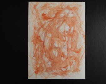 Original Abstract Watercolor Painting on Watercolor Paper 15 x 11 Infancy