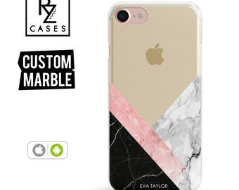Marble Phone Case, Marble iPhone 7 Case, Gift for Her, Gift For Mom, iphone 6 case, Personalized Gift, iPhone 7 Plus Case, iPhone 6S Case