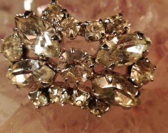 Brooches, brooches, rhinestones, glass, vintage