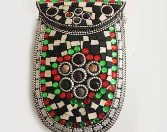 Perfect Gift for all Valentine's Day  / Mosaic Metal Clutch Bag / Party Clutch/ Metal Bag