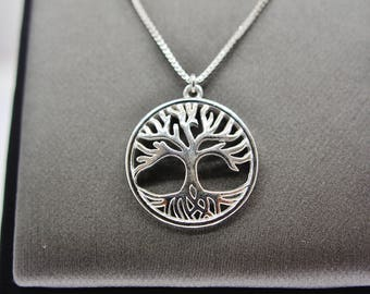 Sterling Silver Tree Pendant Necklace