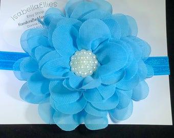 Beautiful Blue Flower Headband