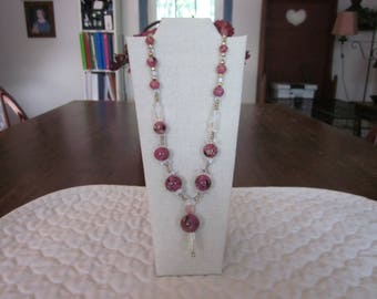 Vintage Murano Glass Bead Necklace In Excellent Condition