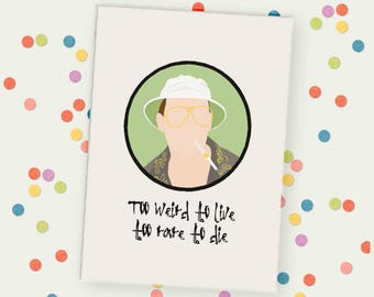 Fear and Loathing Unframed Print