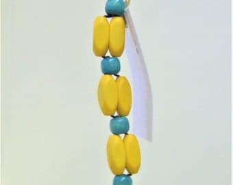 Yellow and Blue Keychain/Purse Charm