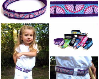 Adjustable kids belt - decorated customizable