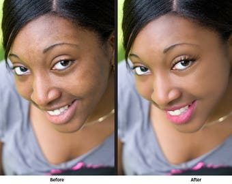 Basic Photo Retouching Services -  Blemish removal, skin tone correction, teeth whitening, color correction, convert to black and white