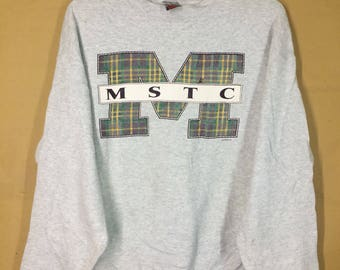 Vintage 90s Mstc sweatshirt Xlarge Size