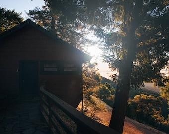 Honeymoon Cabin, West Point Inn, California Travel Photograph, Landscape Print